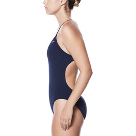 Nike Swim Poly Core Solid Cut-Out One Piece Women Midnight Navy